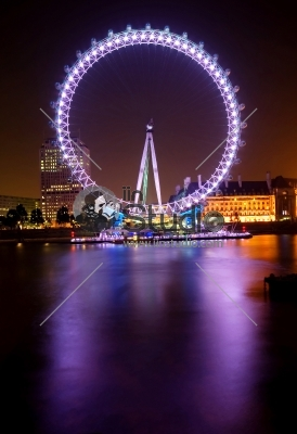 Magnificent London Eye at nightime
