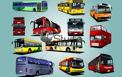 Photorealistic Buses