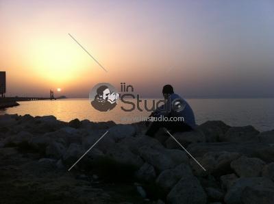 Sunset Time in Bahrain Bridge