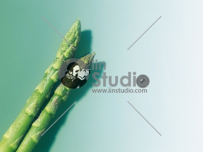Bunch of fresh young asparagus