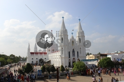This is the famous church of Velankanni in Tamil Nadu..