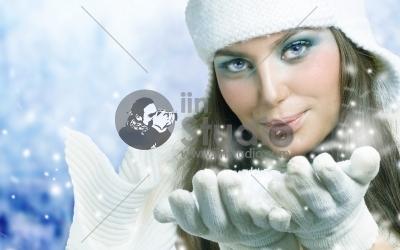 snow girl angel