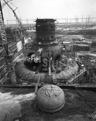 Browns Ferry Nuclear Power Plant's Unit 1 under construction  1966