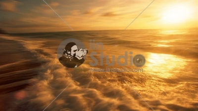 picture-of-natural-scene-The-Rising-Sun-Golden-Light-on-the-Sea-Surface-Twisting-River