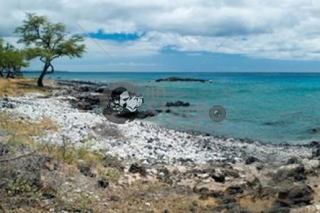 Hawaiian Beach panorama, Mauna Kea, Big Island