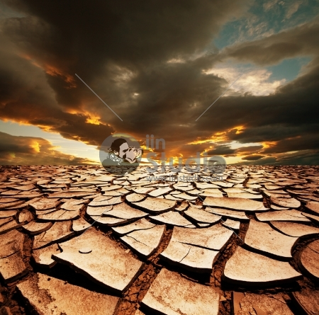 Drought land with cracks