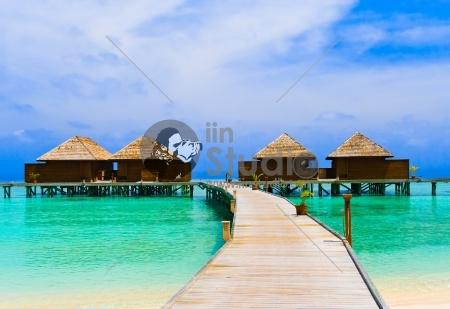 Peaceful path to sea house