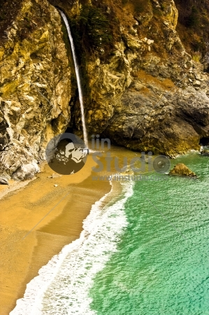 McWay falls is only one of two waterfalls