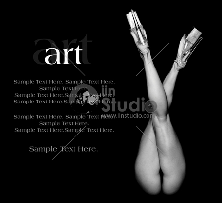 Art of a Woman's Legs with Text Space to the Left