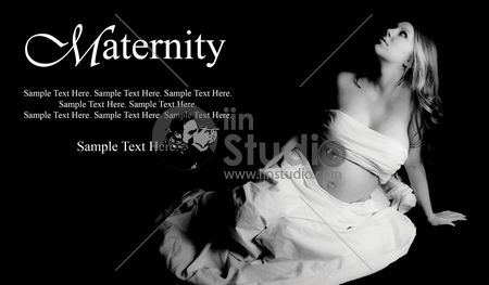 Beautiful Pregnant Woman with Text Space to the Left