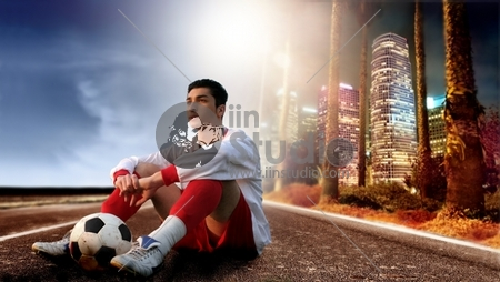 soccer player in the city 2