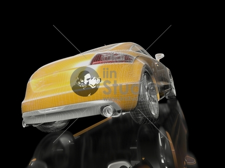 3d Yellow car model