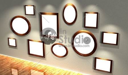 3d frames set