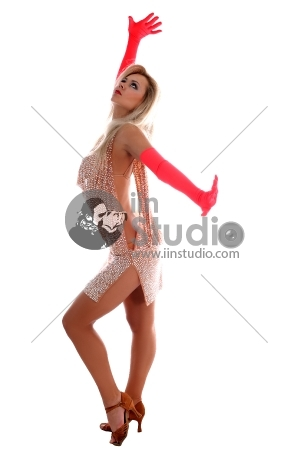 Latin Dancer Isolated On White