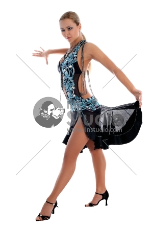 Latino Dancer Isolated On White