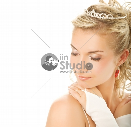 Beautiful young bride close-up portrait