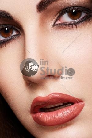 Close-up portrait of sensual arabic woman model
