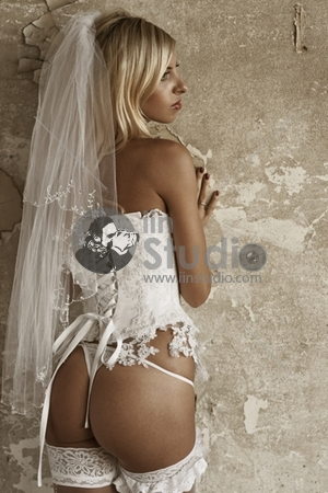 Sexuality girl in bride sexy underclothing