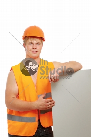 A young construcation worker