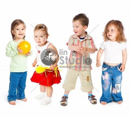 Group of little children
