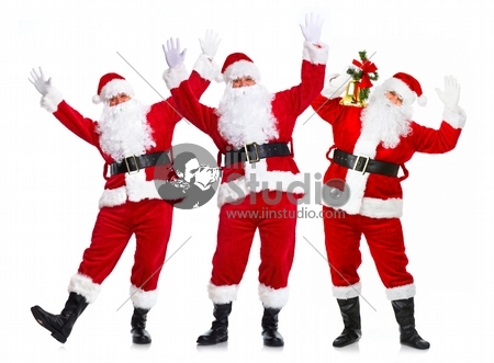 Happy Christmas Santa Claus group
