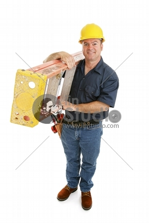 Construction Worker and Ladder