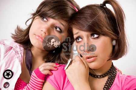 Two girls emo close up