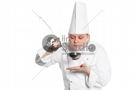 Male Chef White Background