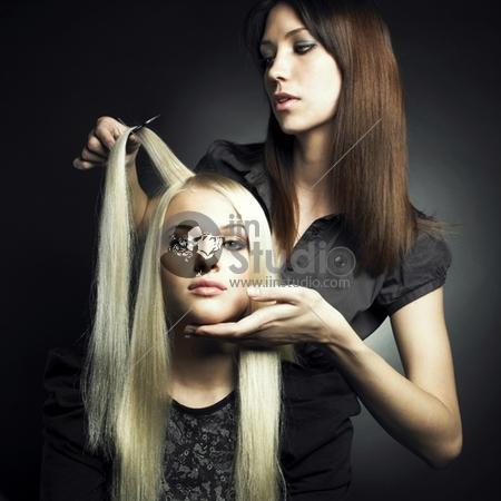 Woman in a beauty salon. Conceptual photo
