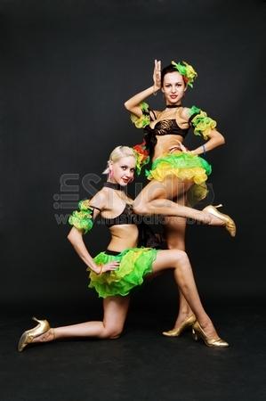 dance duet over dark background