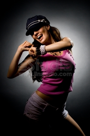 a young nice girl dancing modern dances