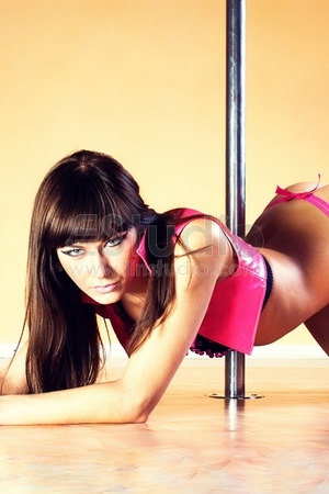 Sexy woman on the pole