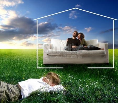 Family Dreaming An Home In The Nature