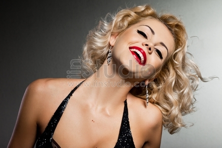 Elegant fashionable woman with smile