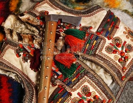 guzul hatchet and traditional waistcoat