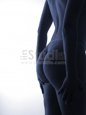 Naked Young Woman, Famale body in Silhouete