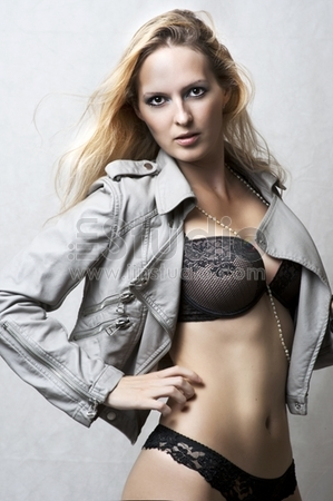 Sexy underwear female model. Fashion portrait of young beautiful woman wearing sexy lingerie