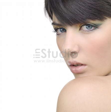 portrait of beautiful woman with professional makeup