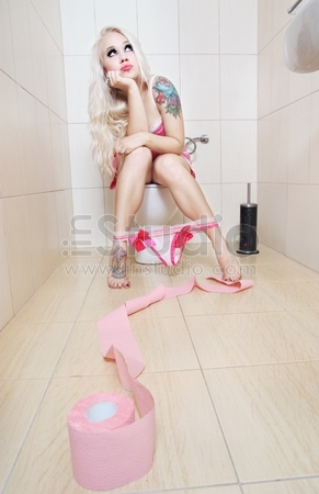 Girl in the toilet, similar available in my portfolio