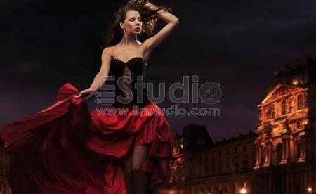 Sexy dancer in urban background