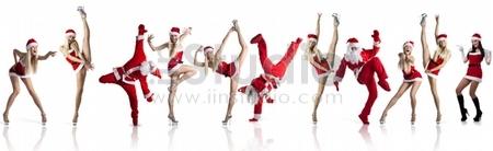 Santas Clause dancer