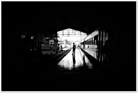 Man in Railway Station