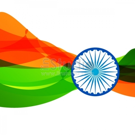 Colorful Indian flag