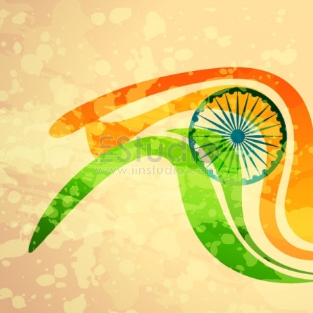 Indian Flag Illustration Free Vector