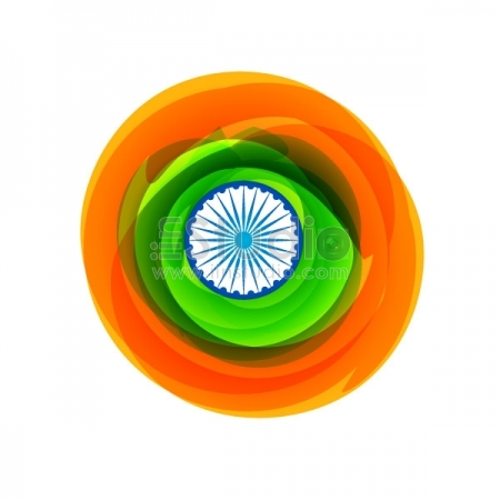 Flag Of India In Creative Style Free Vector