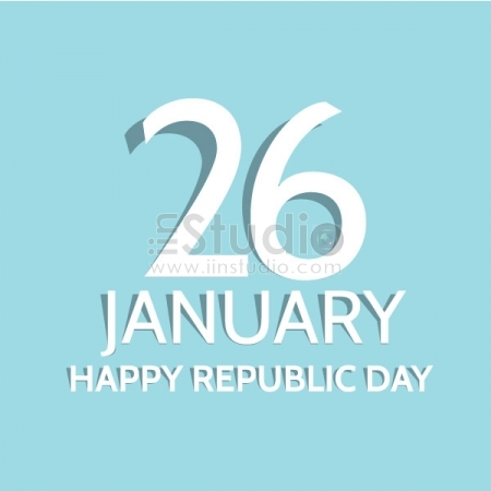 Happy Republic Day 26 January Free Vector
