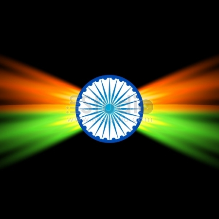 Creative Dark Indian Flag Design Free Vector
