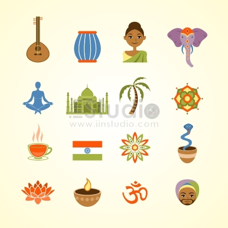 India Art vector pack