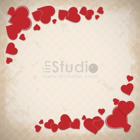 Valentine's Day background - Heart Greetings