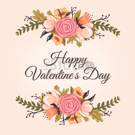 Floral Valentine's Greetings card